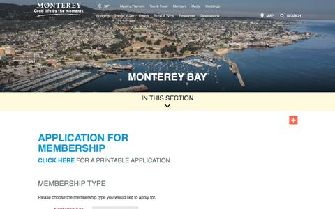Screenshot of Signup Page seemonterey.com - See Monterey, CA | Monterey's Official Tourism & Travel Information for Monterey Hotels, Accommodations, Attractions - captured Nov. 29, 2016