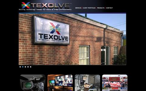 Screenshot of Home Page texolve.com - Texolve | Pro Audio & Video Solutions - captured Feb. 25, 2016