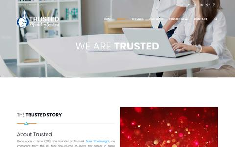 Screenshot of About Page trustedmarketingservices.com - About Trusted Marketing Services Saskatchewan Marketing Agency - captured Jan. 17, 2018