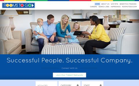 Screenshot of Jobs Page roomstogo.com - Rooms To Go Careers | Just another WordPress site - captured Jan. 13, 2016