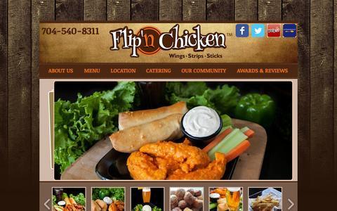 Screenshot of Home Page flipnchicken.com - flipn - captured Sept. 30, 2014