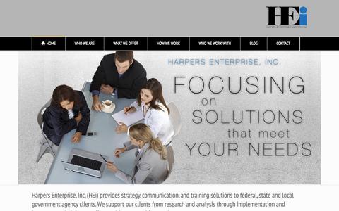 Screenshot of Home Page harpersenterprise.com - Harpers Enterprise - captured Oct. 2, 2014