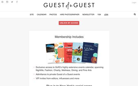 Screenshot of Signup Page guestofaguest.com - Guest of a Guest | Subscribe - captured July 12, 2018