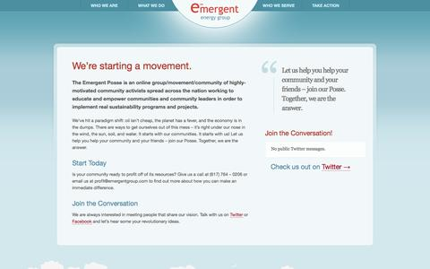 Screenshot of Signup Page emergentgroup.com - We're starting a movement. – Emergent Energy Group - captured Oct. 2, 2014