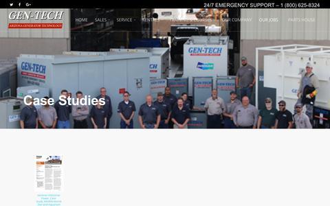 Screenshot of Case Studies Page gentechusa.com - See Our Case Studies | GenTechUSA.com - captured Oct. 8, 2017