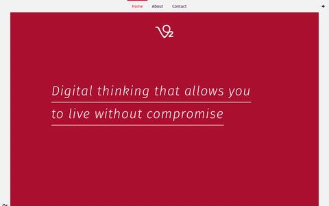 Screenshot of Home Page vo2.nz - Home | Vo2 Group - Digital Thinking - captured Dec. 3, 2016