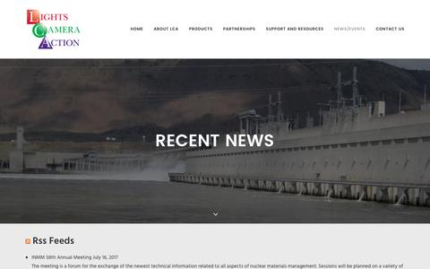 Screenshot of Press Page lights-camera-action.net - News - Lights Camera Action - captured Nov. 8, 2016