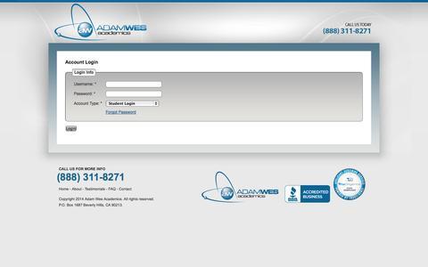 Screenshot of Login Page adamwes.com - Users - captured Nov. 2, 2014