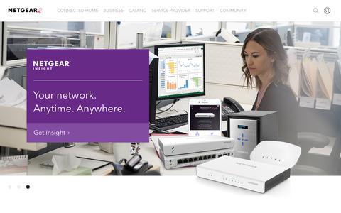 Screenshot of Home Page netgear.com - NETGEAR - captured Oct. 19, 2018