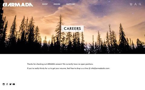 Screenshot of Jobs Page armadaskis.com - Careers - Armada Skis - captured Oct. 15, 2017