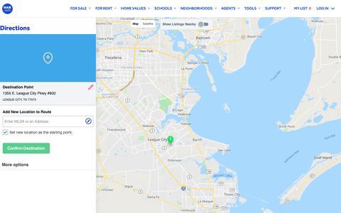 Screenshot of Maps & Directions Page har.com - Map Directions - HAR.com - captured Sept. 28, 2018