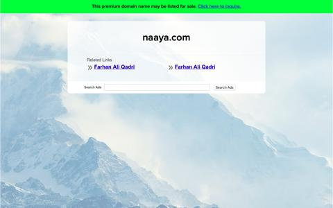 Screenshot of Home Page naaya.com - naaya.com - captured Oct. 19, 2018