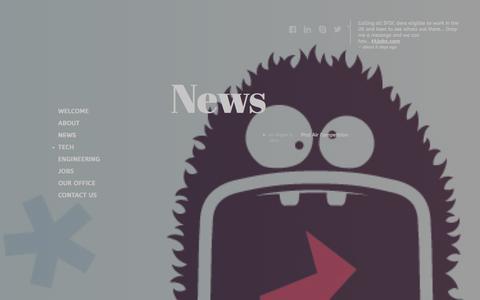 Screenshot of Press Page t4jobs.com - News - captured Sept. 30, 2014