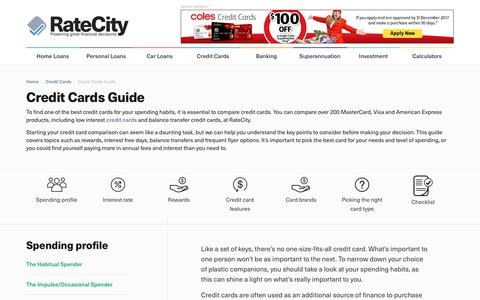 Credit Cards Guide | Credit Cards Considerations | RateCity