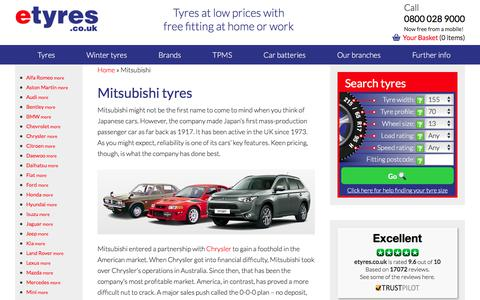 Cheap Mitsubishi Tyres With Free Mobile Fitting - etyres