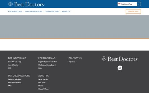 Screenshot of Privacy Page bestdoctors.com - Privacy Policy - Best Doctors Southeast Asia | Best Doctors Southeast Asia - captured May 4, 2017