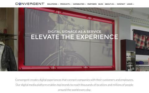 Screenshot of Home Page convergent.com - Digital Signs by Convergent - captured Nov. 10, 2016