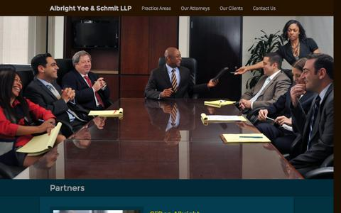 Screenshot of Team Page ayslaw.com - Our Attorneys - captured Oct. 4, 2014