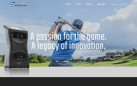 Screenshot of About Page foresightsports.com - About Us | Foresight Sports - captured June 6, 2017