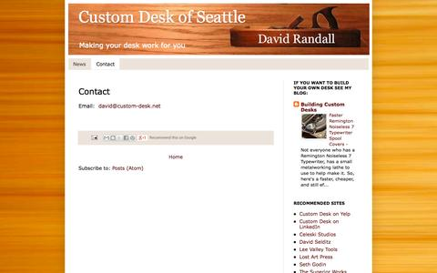 Screenshot of Contact Page custom-desk.net - Custom Desk of Seattle: Contact - captured Sept. 30, 2014