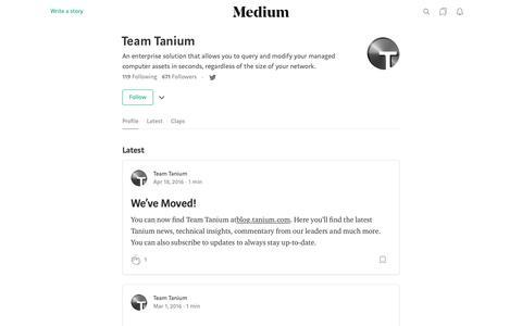 Team Tanium – Medium