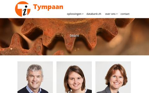 Screenshot of Team Page tympaan.nl - | Tympaan - captured Oct. 26, 2017