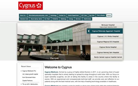 Screenshot of Home Page Privacy Page Terms Page cygnusmedicare.com - Welcome to Cygnus | Cygnus - captured Oct. 3, 2014
