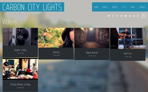 Screenshot of Press Page carboncitylights.com - Videos | Carbon City Lights - captured Sept. 27, 2014