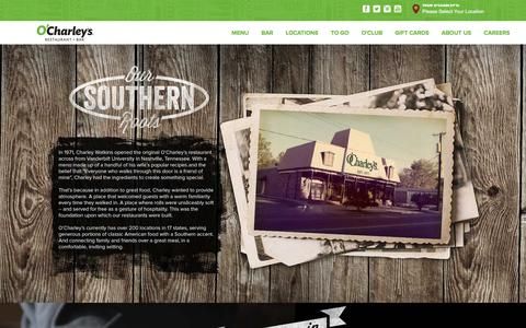 Screenshot of About Page ocharleys.com - about us - captured Jan. 10, 2016