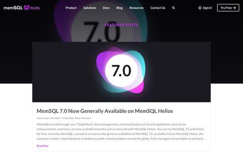 Screenshot of Blog memsql.com - MemSQL Blog - captured Dec. 12, 2019