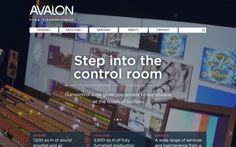 Screenshot of Home Page avalonstudios.co.nz - Avalon Film & Television Studios | Wellington, New Zealand - captured Oct. 4, 2014