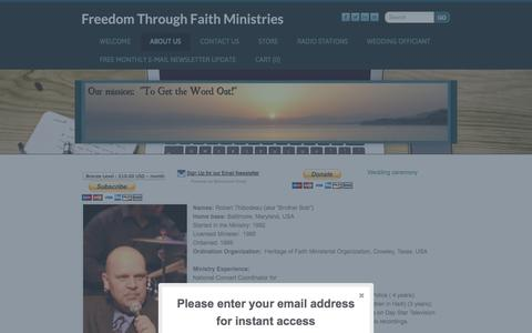 Screenshot of About Page ftfm.org - About Us - Freedom Through Faith Ministries - captured Oct. 6, 2014