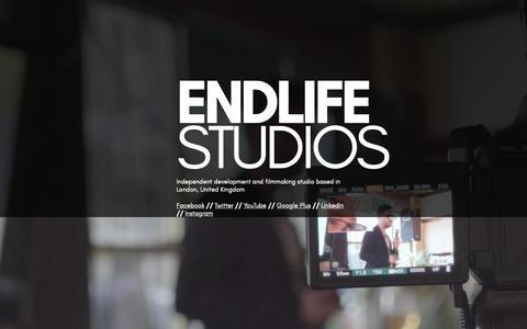 Screenshot of Home Page endlifestudios.com - Endlife Studios 2018 - captured Sept. 28, 2018