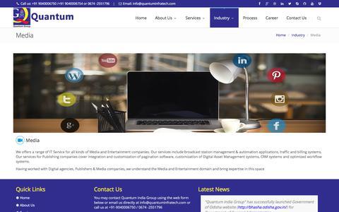 Screenshot of Press Page quantumindiagroup.com - Quantum India Group - captured July 22, 2018