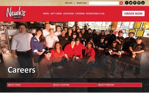 Screenshot of Jobs Page newks.com - Careers - Newk's Eatery - Best Soups, Sandwich Menu, Salad Menu, Pizza, Office Catering - captured Oct. 30, 2017