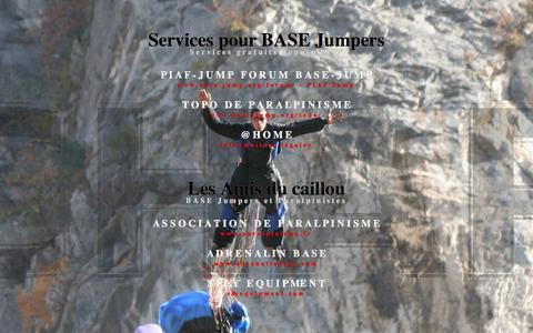 Screenshot of Home Page base-jump.org - BASE Jump services - base-jump.org - captured March 21, 2017