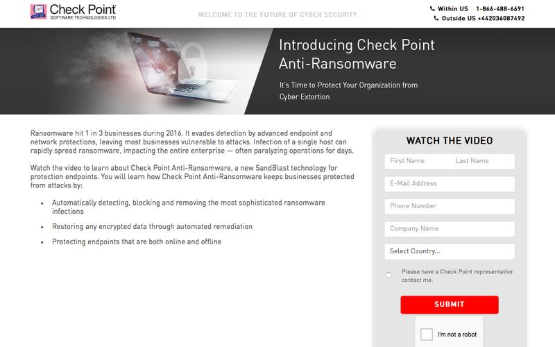 Anti Ransomware Video| Check Point Software Technologies