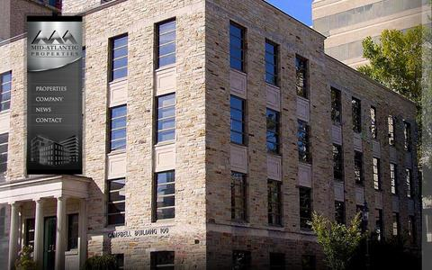 Screenshot of Home Page midap.com - Home - Mid-Atlantic Properties, Inc. - captured Oct. 6, 2014