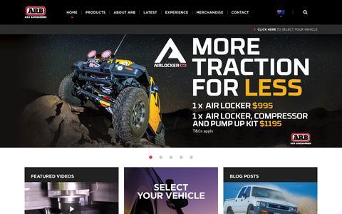 Screenshot of Home Page arb.com.au - ARB 4×4 Accessories | - captured Oct. 1, 2015
