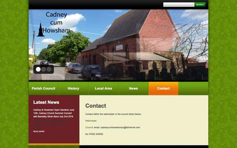 Screenshot of Contact Page cadneycumhowsham.co.uk - Contact  |  Cadney Cum Howsham - captured June 8, 2016