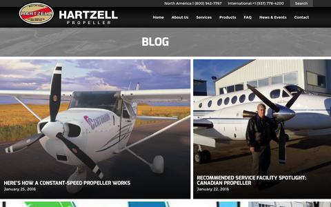 Screenshot of Blog hartzellprop.com - Blog | Hartzell Propeller - captured Jan. 26, 2016