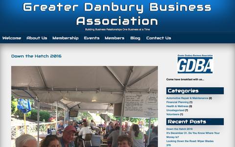 Screenshot of Blog danburybusiness.org - Blog – Greater Danbury Business Association - captured Oct. 6, 2016