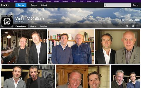 Screenshot of Flickr Page flickr.com - Flickr: Web TV Culture's Photostream - captured Oct. 25, 2014