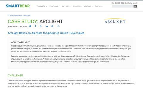 Screenshot of Case Studies Page smartbear.com - Case Study: ArcLight | SmartBear - captured May 19, 2017