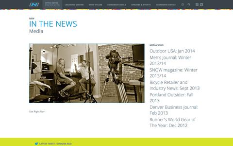 Screenshot of Press Page opticnerve.com - In the news - captured Oct. 9, 2014