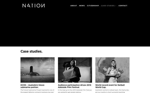 Screenshot of Case Studies Page nation.net.au - new home - NATION - captured Dec. 21, 2016
