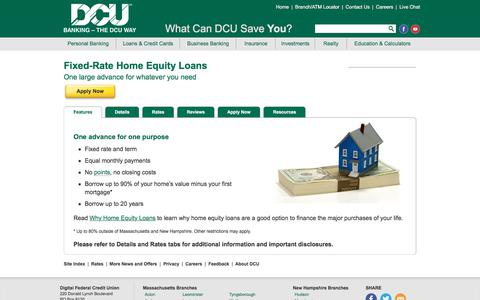 Fixed-Rate Home Equity Loans | DCU | MA | NH