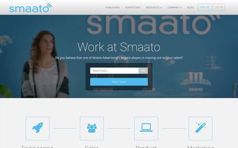 Screenshot of Jobs Page smaato.com - Smaato Jobs - captured July 15, 2015