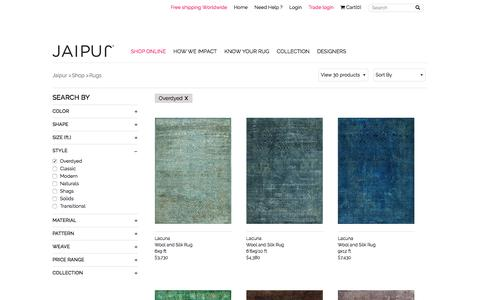 Overdyed Area Rugs, Floor Rugs | Buy Carpets | Jaipur Rugs