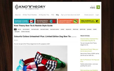 Screenshot of Blog knotheory.com - Knot Theory Bow Tie & Necktie Style Guide - captured Oct. 6, 2014
